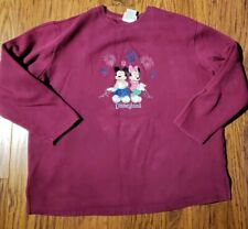 Disneyland Mickey And Minne Long Sleeve Sweat Shirt XL