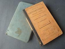 Lot 2 manuels scolaires ancienne école grammaire arithmétique 1882 French school