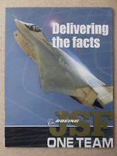 DEPLIANT PUB BOEING JSF JOINT STRIKE FIGHTER X-32 X-32A X-32B CTOL STOVL
