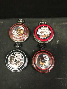 4 NASCAR Dale Earnhardt Sr. Franklin Mint Precision Pocket Watch w/ Leather Case