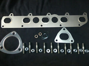 LAND ROVER TD5 EXHAUST MANIFOLD GASKET+EXTENDED STUDS+NUTS-DEFENDER-DISCOVERY 2