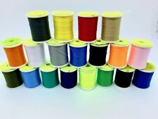 Fly Tying Large Spool Thread, Unwaxed  19 Different colours, Fly Dressing 8/0