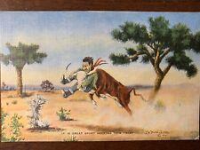 """""""Dude """" Larsen Postcard  1940's"""