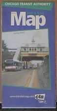 2002 Chicago Transit Authority Bus and Rail Map