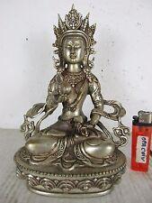 alter Tibet Buddha VAJRASATTVA TARA filigranes Tibet-Silber original ~1970 21cm