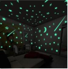 100 pcs Glow In The Dark Wall Stickers Fluorescent Luminous 3D Plastic New Stars