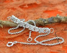 Hearts & Kisses Anklet-Sterling Silver- Beach ,Summer Jewelry,Silver Anklet,New