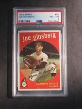 1959 Topps Joe Ginsberg # 66 Orioles PSA 8 NM-MT