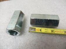 34 10 X 2 14 Hex Zinc Plated Hex Rod Coupling Nuts New 20 Pcs