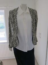Ladies Next Peplum Tailored Jacket Blazer Cream and Black size 12 RRP £60
