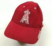 MLB Los Angeles Angels Baseball Cap Hat Men's One Size Fits Most Red Strapback