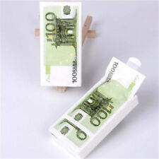 1Pack/10pc 21x21cm Home Paper Napkins €100 Euro Bill Handkerchief Pocket Paper