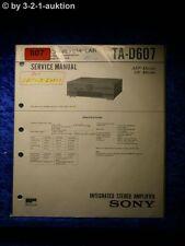 Sony Service Manual TA D607 Amplifier  (#0807)