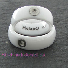 - NEU - MelanO TWISTED Keramik Ring Tracy - weiss - Gr. 56