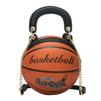 Basketball Shaped Shoulder Messenger Handbag Wallet Purse Tote Mini Cross Body