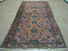 3' X 6' Antique Hand Made Turkish Wool Rug Veg Dyes Red Low Pile
