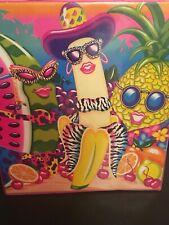 Lisa Frank Fabulous Fruit 3 Ring Binder Banana Pineapple Watermelon Hats Sunnies