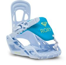 Roxy Poppy Speed Strap Snowboard Bindings Girls Sz XS White