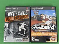 lot, Tony Hawk's Underground 2 & Pro Skater 4,  Sony Playstation 2 PS2 Bundle