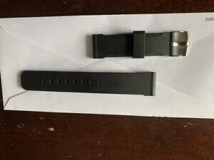 USED Bonetto Cinturini (Italy) Rubber Watch Band Strap 22 mm , Black, Model 306