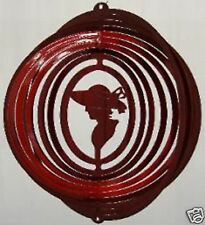 """Red Hat Lady Metal Hanging Wind Spinner 12"""" long x 10"""" wide Approx ..... RH-1"""