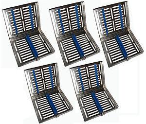 5 x 10er Instrumentenkassette  -teilbar- Sterilisations-Kassette Wash Tray Steri