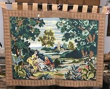 Old hand made French Aubusson Design Tapisserie Aiguille Point 117 x 147 cm