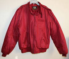 Vintage Aberdeen Red Nylon puffy Jacket Size Large - Golf - Preppy - Club