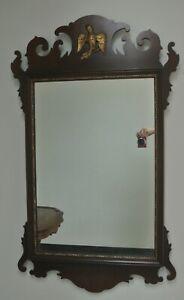 Vintage Kindel Grand Rapids Oxford Mahogany Chippendale Mirror