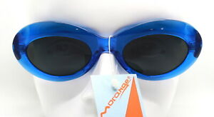 Made IN Italy Sunglasses Woman Oval Eye Cat Clear Red Blue 90s