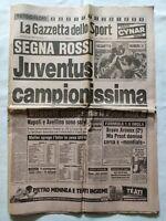 GAZZETTA DELLO SPORT 7 MAGGIO 1984 JUVENTUS VINCE 21° SCUDETTO MICHEL PLATINI