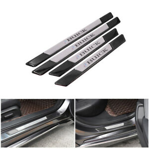 4PCS Carbon Fiber Car Door Scuff Sill Cover Panel Step Protector For Buick
