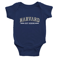 Infant Baby Boy Girl Rib Bodysuit Clothes Gift Harvard Just Kidding University