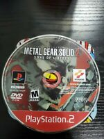 PS2 Metal Gear Solid 2: Sons of Liberty (Sony PlayStation 2, 2001) Disc Only
