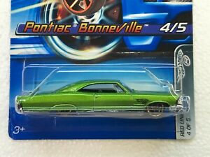 HOT WHEELS 2005 FASTER THAN EVER RED LINES SERIES PONTIAC BONNEVILLE #4/5