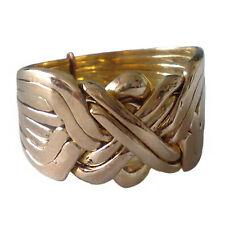 Solid Bronze 8 Band Turkish Puzzle Ring - Sizes from 7 to 14