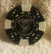 Harley Davidson Powertrain Operations Wisconsin Black & White Poker Chip