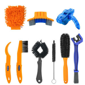 9 PCS Bicycle Cleaning Brush Set for Bike Dirt Clean Fit for Mountain Bike