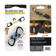 NITE IZE SLIDELOCK 360 MAGNETIC LOCKING CARABINER KEY RING HOLDER CLIP EDC BLUE