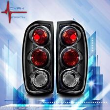 For 1998-2004 Nissan Frontier Tail Lights Black Clear Lens Rear Lamps PAIR