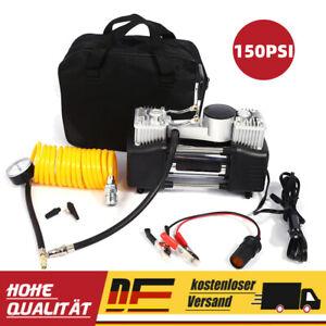 150PSI Mini Auto Reifen Kompressor Luftpumpe Druckluft Autokompressor Tragbar DE