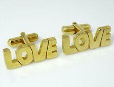 Love Cufflinks Vintage Valentine's Day Wedding Jewelry