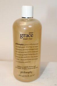 Philosophy NEW Pure Grace Nude Rose Shampoo Bath & Shower Gel USA Made 16 fl oz