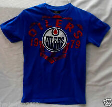 NHL EDMONTON OILERS Shirt Licensed By Old Time Hockey (Size SMALL)