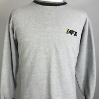VTG FX TV TELEVISION CABLE NETWORK EMBROIDERED LOGO RETRO USA SWEATSHIRT SIZE XL