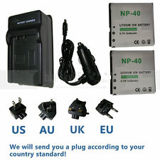 2X Battery+Charger for HP V556AU V5560AU V5560U V5060H V5061U CANP-40 CA NP-40