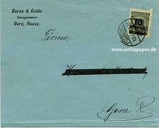 Brief EF Inflation Infla Fa. Berns & Golde Gera Reuss an Fa. Modrach 1923
