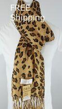 DG Pashmina Scarf Shawl Wrap.Cheetah Leopard Print.Cashmere & Silk.
