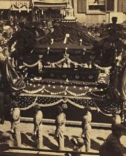 Casket of President Abraham Lincoln on catafalque in New York City Photo Print