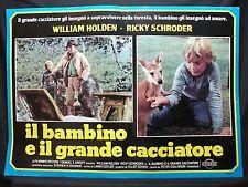 FOTOBUSTA CINEMA - IL BAMBINO E IL GRANDE CACCIATORE - W. HOLDEN -1980-AVVENTURA